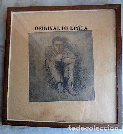 (JX-201205)AGUAFUERTE DE JOSEP NARRO I CELORRIO.REFUGIADO CAMP D´ARGELES,6 OCT. 46 ÚNICA PRUEBA . (Arte - Grabados - Contemporáneos siglo XX)