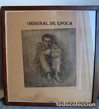 Arte: (JX-201205)Aguafuerte de Josep Narro i Celorrio.Refugiado Camp d´Argeles,6 Oct. 46 Única prueba . - Foto 8 - 228297990