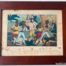 Arte: PAUL ET VIRGINIE , FABRIQUE D ´ESTAMPES DE DEMBOUR ET GANGEL A METZ , LITOGRAFIAS CON ESCLAVOS. Lote 228395565
