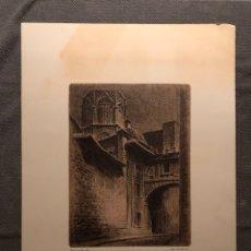 Arte: ERNEST FURIO GRABADO. VALENCIA CARRER DE LA BARXELLA. IMPRIME ARTS GRAFIQUES VICENT. Lote 228450120