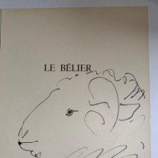 Arte: LE BELIER, LITOGRAFIA ORIGINAL DE PICASSO PUBLICADA EN 1957. Lote 228476345
