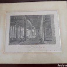 Arte: ANTIGUO GRABADO, CLAUSTRO DEL MONASTERIO DE MONTSERRAT,. Lote 228887145