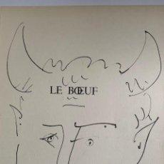 Arte: LE BOEUF LITOGRAFIA ORIGINAL DE PICASSO PUBLICADA EN 1957. Lote 228301995