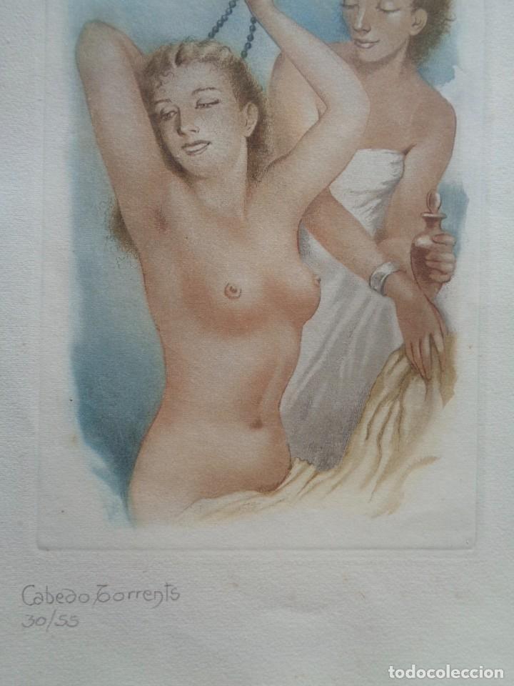 CABEDO TORRENTS.CUATRO GRABADOS AL AGUAFUERTE.NUMERADOS-866 (Arte - Grabados - Contemporáneos siglo XX)