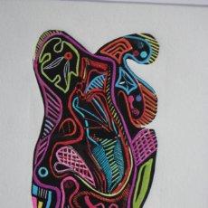 Arte: FJ CASTILLO MÁLAGA 1961 LINOGRABADO DE 22X32 ENMARCADO 31,5X41,5.PC. ILUMINADO A MANO AUTOR,. Lote 229056945