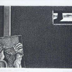 Arte: GIANGRANDI, UMBERT0 (PONTEDERA 1943). GRABADO 23X14 HUELLA ENMARCADO EN 73X58. P/A11/25.. Lote 229060720