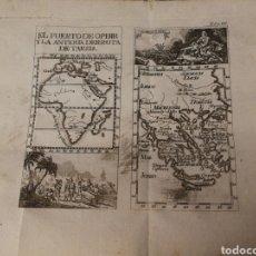 Arte: GRABADO DEL SIGLO XVIII. EL PUERTO DE OPHIR Y LA ANTIGUA DERROTA DE TARSIS. Lote 229416630