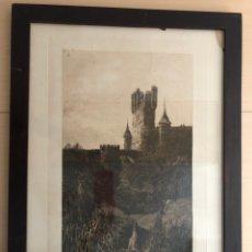 """Arte: ANTIGUO GRABADO """" EL ALCAZAR DE SEGOVIA"""" 1908 FIRMADO POR LHARDY GARRIGUES. Lote 229706130"""