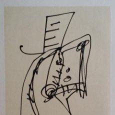 Arte: ANTONIO SAURA: RETRATO DE MUJER CON SOMBRERO, PLANCHA 6º RETRATO. Lote 229745170