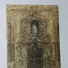Arte: AGUAFUERTE ORIGINAL . FIRMADO Y NUMERADO P/A. CON SELLO Y CERTIFICADO DE ARTISTA. Lote 230124135