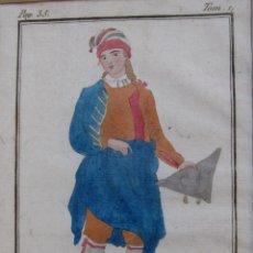 Arte: CATALAN. 1805. GRABADO COLOREADO A MANO DE LA ÉPOCA. 18,2 X 11,8 CM.. Lote 230127455