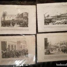 Arte: ESCENAS DE LA REVOLUCIÓN Y BOMBARDEO DE BARCELONA. 8 GRABADOS. 1842.. Lote 230401410