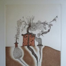 Arte: ZUSH (BARCELONA 1946) (ALBERT PORTA MUÑOZ) GRABADO 33X23 PAPEL 56X38CMS, FIRMA LÁPIZ 58/75 MAHOME. Lote 230628045