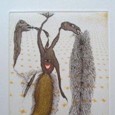 Arte: ZUSH (BARCELONA 1946) (ALBERT PORTA MUÑOZ) GRABADO DE 20X17 EN PAPEL 43X33, FIRMADO LÁPIZ Y 60/75. Lote 230629785