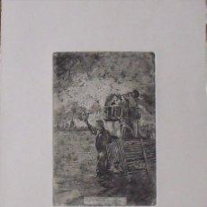 Arte: MARIANO GARCÍA Y MAS. GRABADO AL AGUAFUERTE. FIRMADO EN PLANCHA. NO FASES NIU A LA VORA DEL RIU.. Lote 230739520
