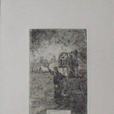 Arte: MARIANO GARCÍA Y MAS. GRABADO AL AGUAFUERTE. FIRMADO EN PLANCHA. NO FASES NIU A LA VORA DEL RIU.. Lote 230739630