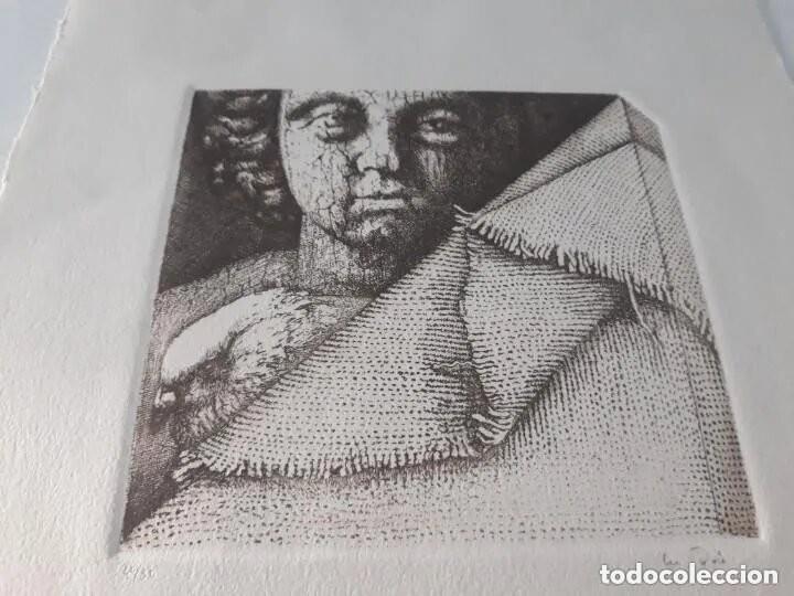 GRABADO ARTISTA MANUEL BOIX (L'ALCUDIA) EL DE JOAN J TRAMA DE GRABADOR ESTAMPADO AÑO 1978 VALENCIA (Arte - Grabados - Contemporáneos siglo XX)