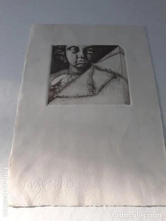Arte: Grabado artista Manuel Boix (lAlcudia) El de Joan J Trama de grabador estampado año 1978 Valencia - Foto 2 - 230873635
