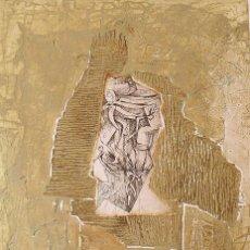 Arte: RAUL CAPITANI. GRABADO ENRIQUECIDO CON DIBUJO A TINTA. SIN FIRMAR. BUEN ESTADO. 51X36 CM.. Lote 230875150
