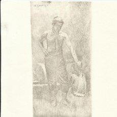 Arte: MARIANO GARCÍA Y MAS. GRABADO AL AGUAFUERTE. FIRMADO PLANCHA. GUERRERO, ESPADA Y CORAZA BUEN ESTADO.. Lote 230892680