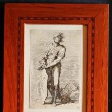 Arte: SALVATOR ROSA, AGUAFUERTE DE 1656, SELLOS E INSCRIPCIONES.. Lote 231331845