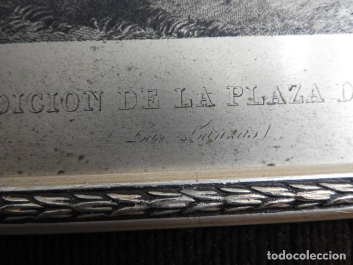 Arte: CUADRO GRABADO SOBRE COBRE PLATEADO RENDICION DE BREDA DE VELAZQUEZ - Foto 6 - 231379395