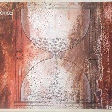 Arte: CRONOLOGÍA HISTÓRICA, 1ª(Y ÚNICA) PRUEBA DE IMPRENTA.50X30 CMTS.. Lote 231393630
