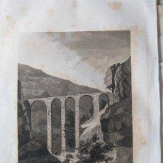 Arte: PUENTE DE SAN PABLO GRABADO LITOGRAFICO ORIGINAL 1854 - MONUMENTOS ROMANOS - CUENTA - CASTILLA LA M.. Lote 231475225