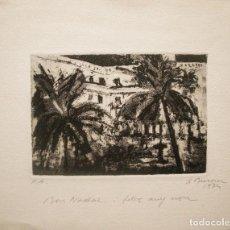 Arte: SIMÓ BUSOM GRABADO P.A. 30 X 24 CM. FIRMADO Y FECHADO 1974.. Lote 231621475