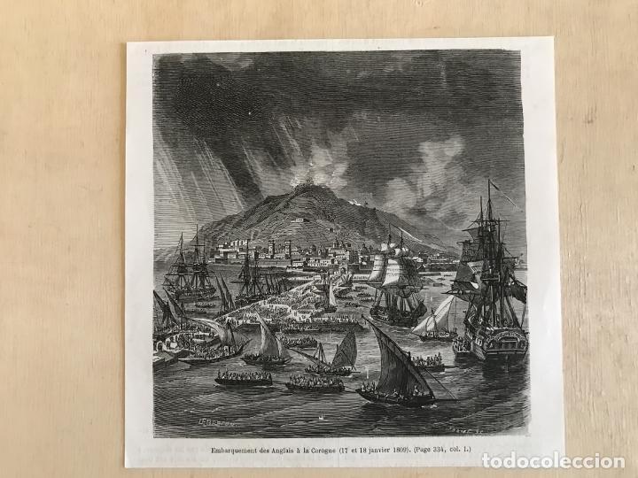 Arte: Tropas inglesas en A Coruña en 1809 y abolición de la Inquisición en España, ca. 1950. - Foto 2 - 231656960