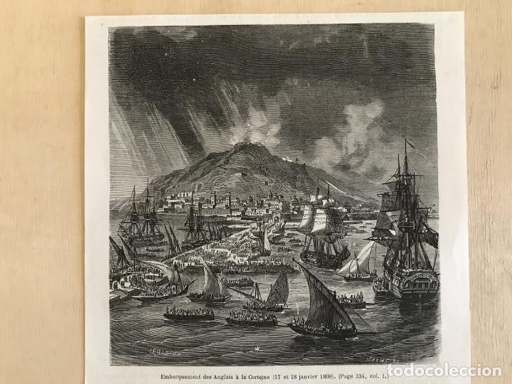 Arte: Tropas inglesas en A Coruña en 1809 y abolición de la Inquisición en España, ca. 1950. - Foto 3 - 231656960