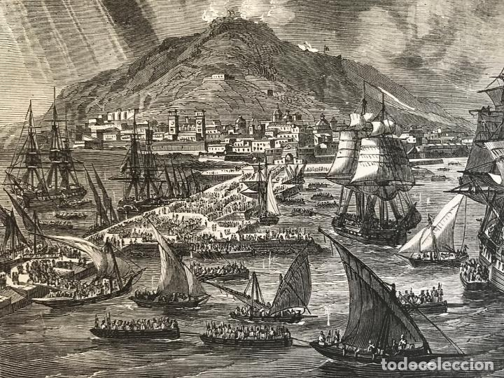 Arte: Tropas inglesas en A Coruña en 1809 y abolición de la Inquisición en España, ca. 1950. - Foto 5 - 231656960