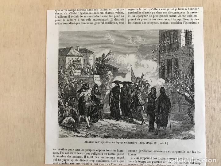 Arte: Tropas inglesas en A Coruña en 1809 y abolición de la Inquisición en España, ca. 1950. - Foto 6 - 231656960