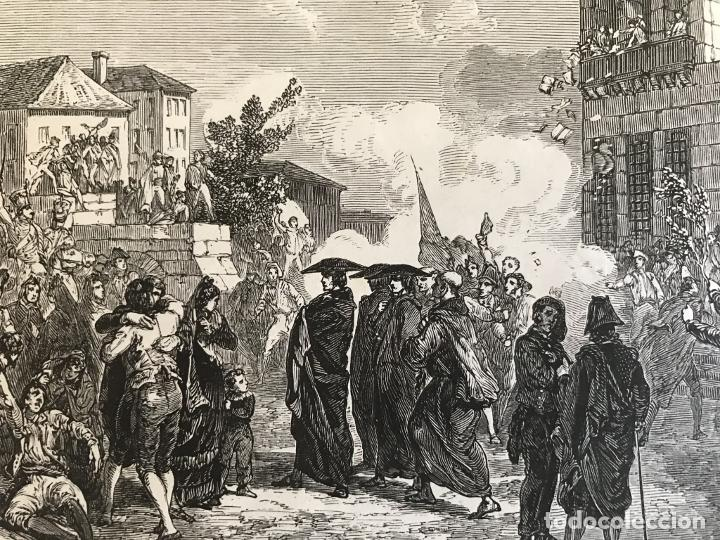 Arte: Tropas inglesas en A Coruña en 1809 y abolición de la Inquisición en España, ca. 1950. - Foto 7 - 231656960