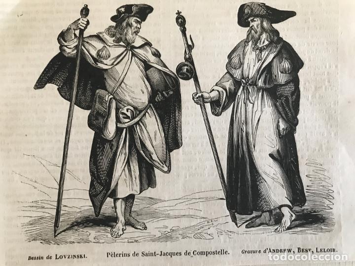 Arte: Peregrinos a Santiago de Compostela (A Coruña, España), hacia 1850. Lovzinky/Andrew, Best, Leloib - Foto 3 - 231659570