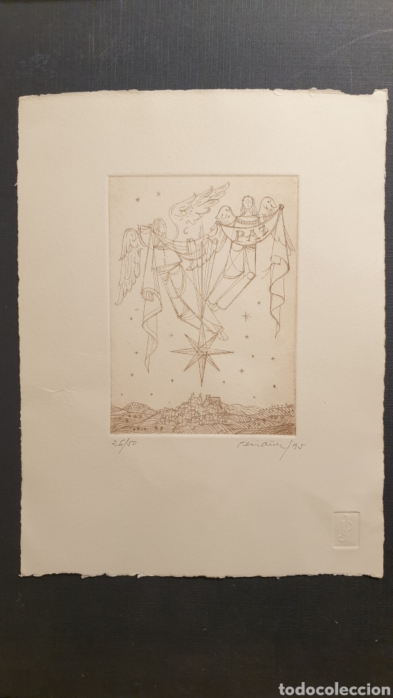 GRABADO POR PERIAÑEZ. ESTRELLA DE LA PAZ. FIRMADO Y NUMERADO (Arte - Grabados - Contemporáneos siglo XX)