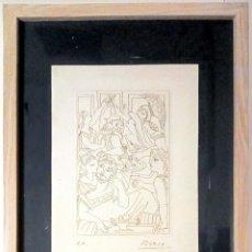 Art: PABLO PICASSO-GRABADO ORIGINAL,FIRMADA A MANO, CON CERT- DE AUTENTICIDAD-LYSISTRATA 1962-27X21CM. Lote 231933115