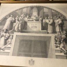 Arte: 3 GRABADOS CORRESPONDIENTES A LAS ESTANCIAS DE RAFAEL EN EL VATICANO. Lote 232183515