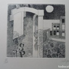 Art: FRANCESC ARTIGAU (BARCELONA 1940) GRAB 15X17 PAPEL 50X35 FIRMADO Y /100 POESÍA JOAN SALVAT-PAPASSEIT. Lote 232445155