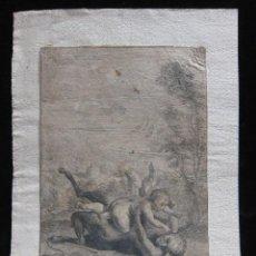 Arte: EROS Y PAN, AFTER ANNIBALE CARRACCI (?) - JAN VAN TROYEN. Lote 232468735