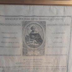 Arte: GRABADO SOBRE SEDA TOMAS DE AQUINO AÑO 1800 ANTONIO PEREZ. Lote 232725140