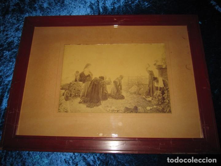 Arte: Fotograbado circa 1900 firmado dedicado Joaquín Luque Roselló Carlos Lamothe, Salve Regina. Málaga - Foto 3 - 232740310