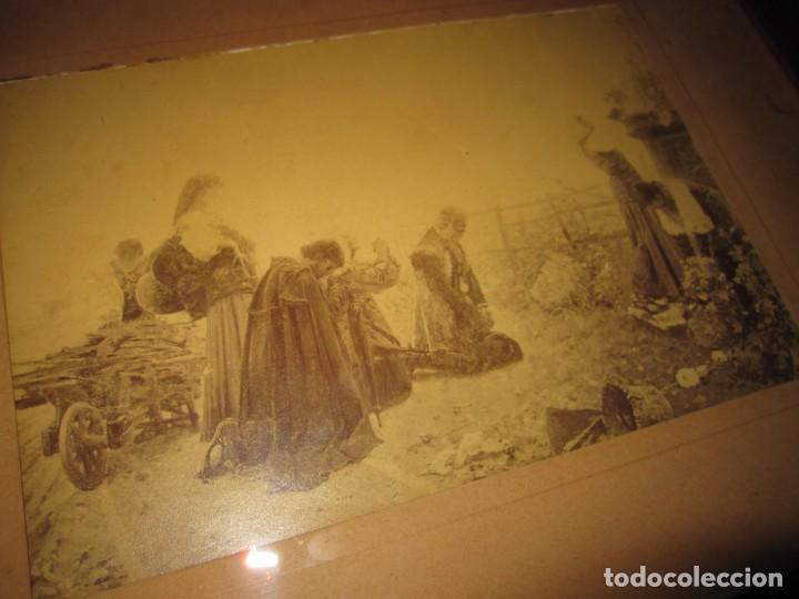 Arte: Fotograbado circa 1900 firmado dedicado Joaquín Luque Roselló Carlos Lamothe, Salve Regina. Málaga - Foto 8 - 232740310
