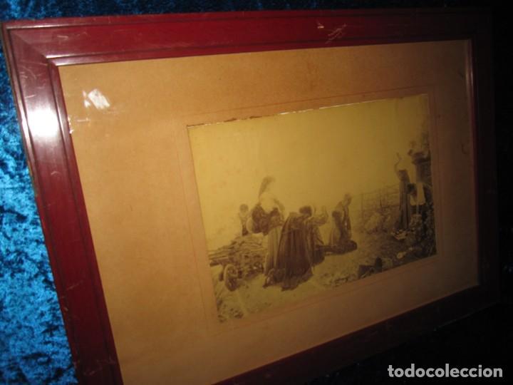 Arte: Fotograbado circa 1900 firmado dedicado Joaquín Luque Roselló Carlos Lamothe, Salve Regina. Málaga - Foto 23 - 232740310