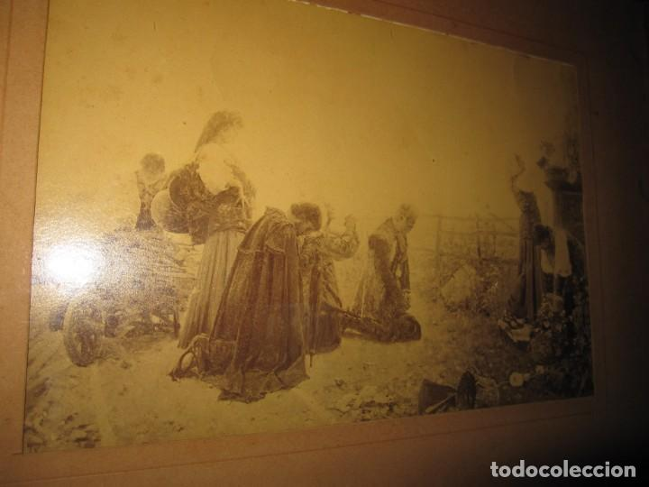 Arte: Fotograbado circa 1900 firmado dedicado Joaquín Luque Roselló Carlos Lamothe, Salve Regina. Málaga - Foto 33 - 232740310