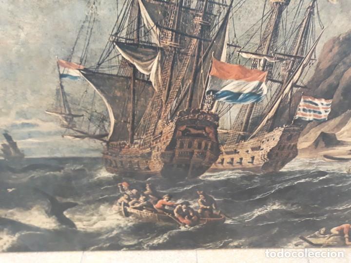 Arte: Cuadro barcos d vela antiguo papel de hilo lienzo 150 ancho×93 de alto - Foto 5 - 232749650
