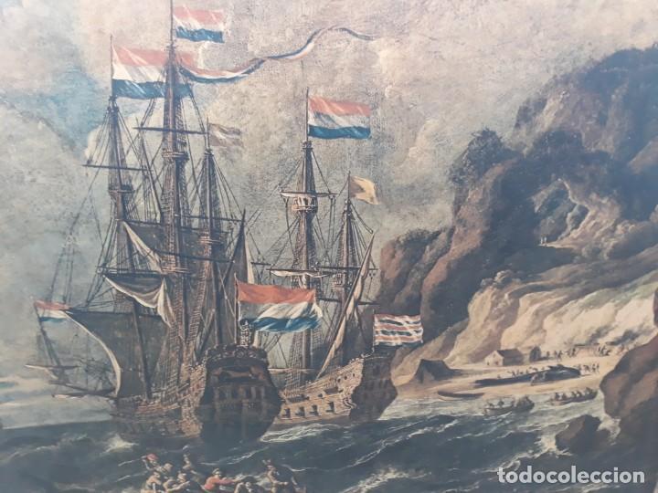 Arte: Cuadro barcos d vela antiguo papel de hilo lienzo 150 ancho×93 de alto - Foto 6 - 232749650