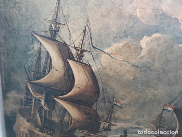 Arte: Cuadro barcos d vela antiguo papel de hilo lienzo 150 ancho×93 de alto - Foto 7 - 232749650
