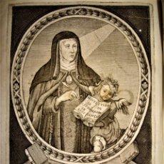 Arte: VERDADERA EFIGIE DE LA ABADESA SOR MARÍA JESÚS DE ÁGREDA.GRABADO SIGLO XVII.. Lote 232787560
