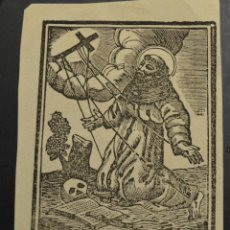 Arte: ANTIGUO GRABADO XILOGRAFIA ESTAMPA DEL XVII O XVIII DE SAN FRANCISCO DE ASIS. Lote 233004300